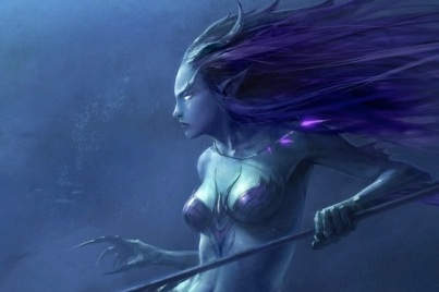 mermaid_fish_horns_fantasy_art_purple_hair_sharks_artwork_anubis_long_ears_underwater_weapon_1920_Wallpaper_1440x900_www-1.wallpaperhi.com